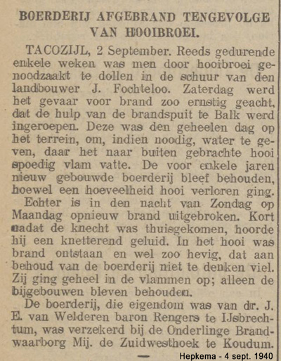 Brand Vochteloo-1940