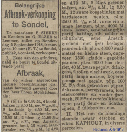 Monkelbaan Sondel 1918